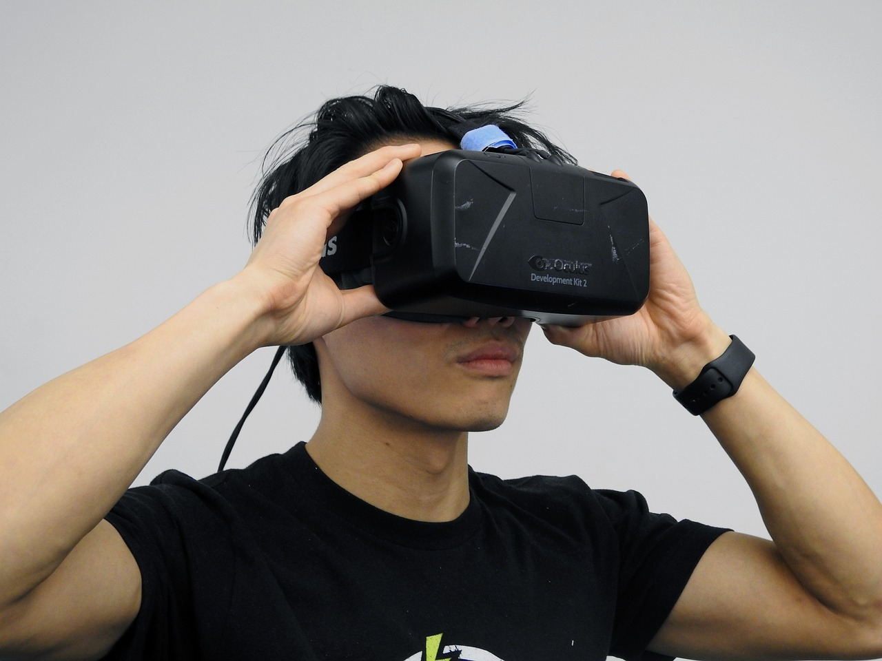 interactie met virtual reality bril